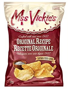 Miss Vickies Original Recipe Kettle Cooked Potato Chips 220g / 7.75oz {Imported from Canada} (2-Pack)