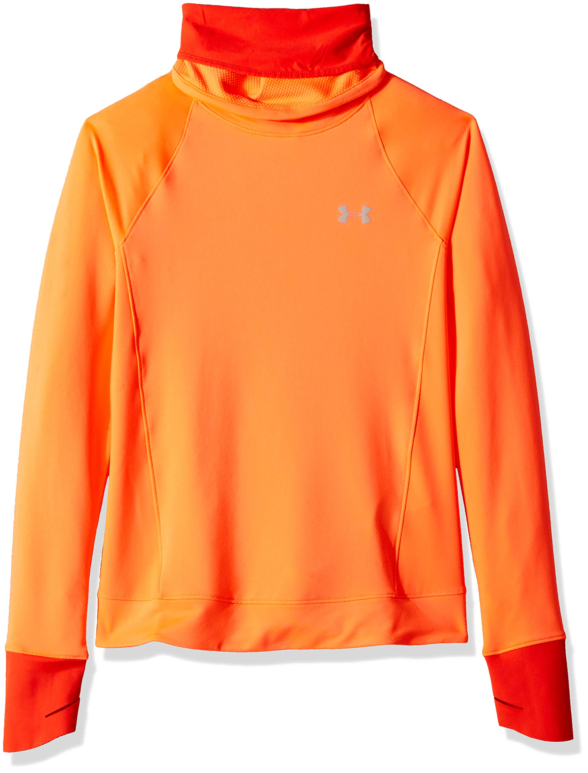 Under Armour Women's Coldgear Reactor Run Funnel, After Burn (877)/Reflective, Medium