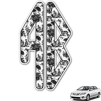Amazoncom Toile Monogram Car Decal Personalized Automotive - Monogram car decal amazon