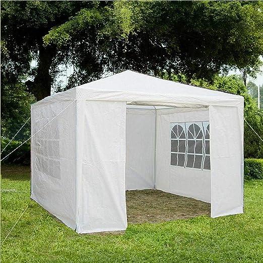 Gr8 Garden 70743-WHITE Cenador de jardín GR8 con Laterales Impermeables, para Playa, Fiestas, Festivales, Camping, Boda, toldo 3 m x 2, 45 m [Blanco]: Amazon.es: Jardín