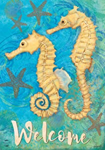 Briarwood Lane Seahorse Welcome Summer Garden Flag Nautical 12.5