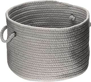 product image for Colonial Mills WL18 18 by 18 by 12-Inch Bristol Storage Basket, Gray