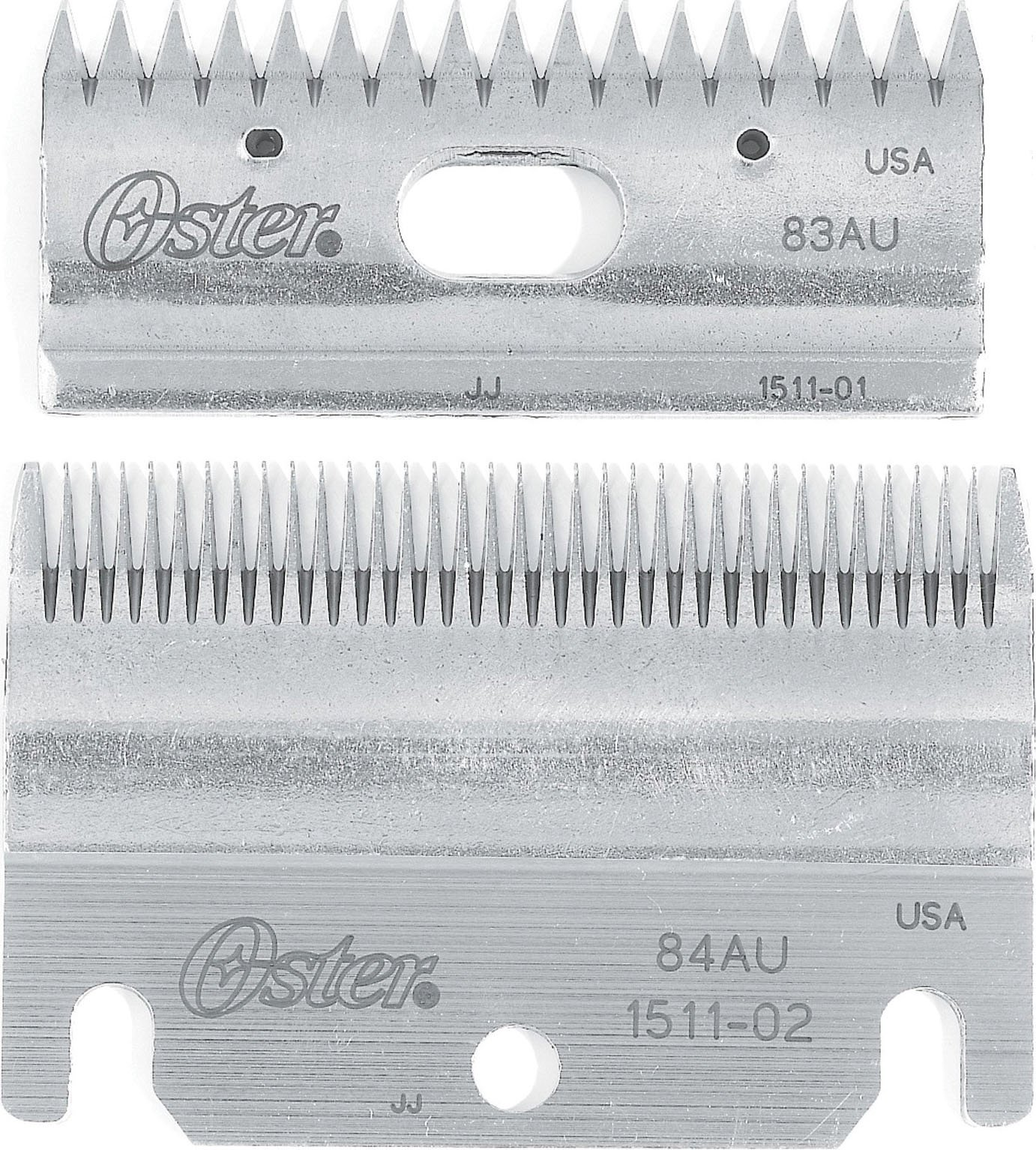Oster Clipmaster Top and Bottom Clipper Blade Set, 83AU and 84AU (078511-126-001) by Oster