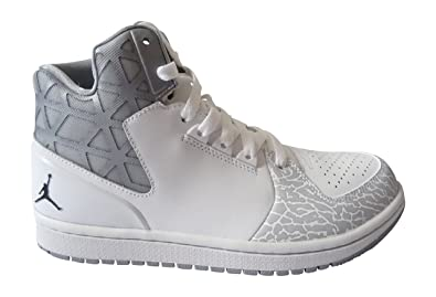 Nike Jordan 1 Flight 3, Chaussures de Sport Homme, Blanc/Noir/Gris