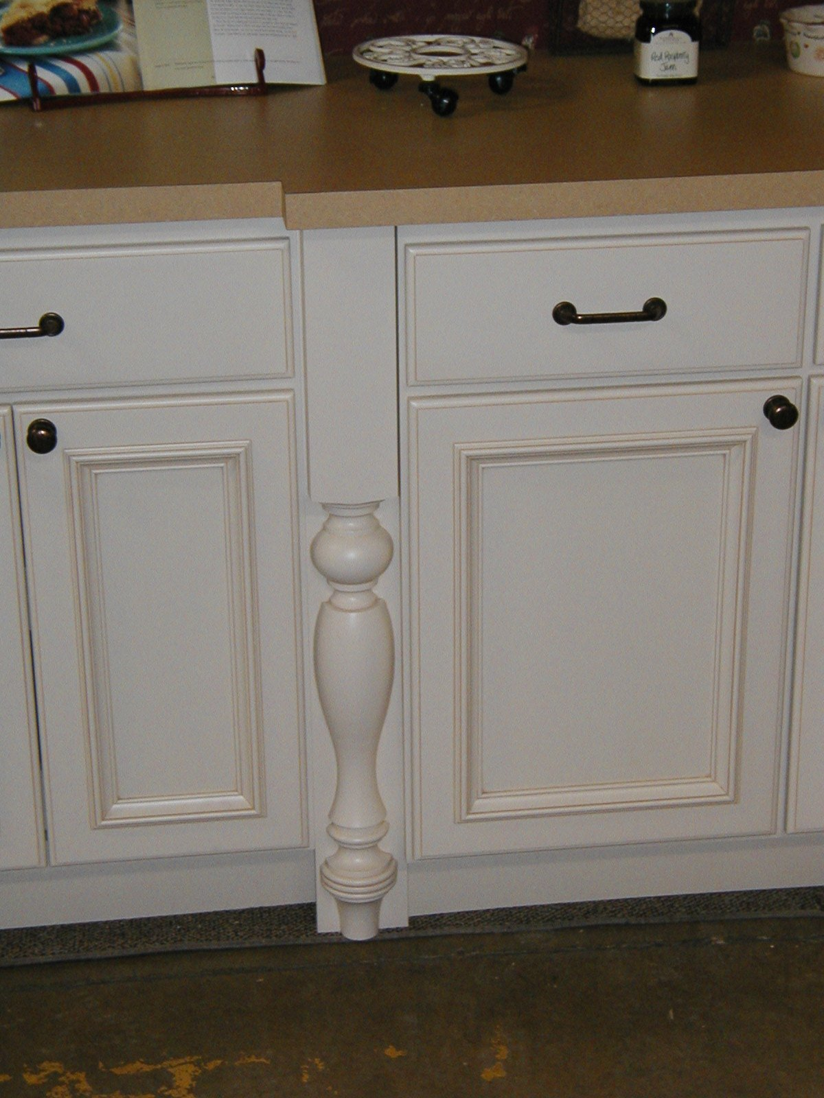 Country French Plain Island Column with Foot, Alder by Designs of Distinction®