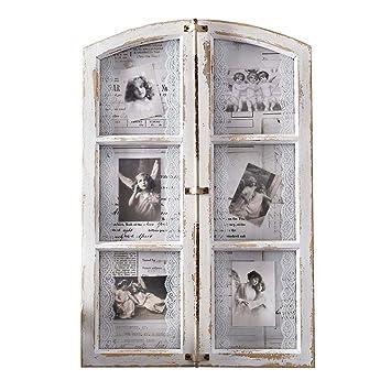 """Portaretratos""""Antikes Fenster"""" de madera y metal, para 6 fotografías ..."""