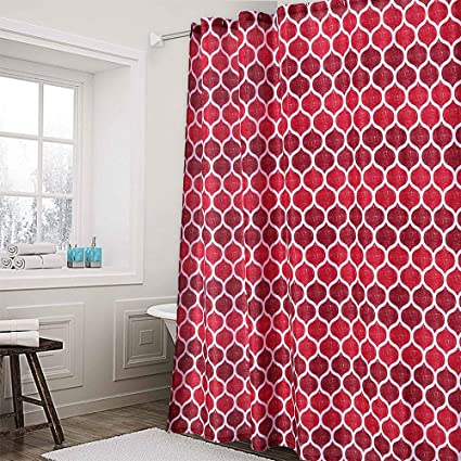 Amazon Haperlare Fabric Shower Curtain Geometric Pattern