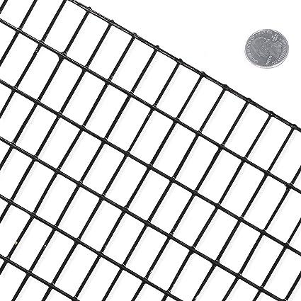 Amazon.com: Fencer Wire 16 Gauge Black Vinyl Coated Welded Wire Mesh ...