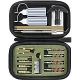 GLORYFIRE Gun Cleaning Kit Handgun Cleaning Kit Pistol Cleaning Kit .22.357/9mm.40.45 Caliber Brass Jags Tips and 2 Empty Bot