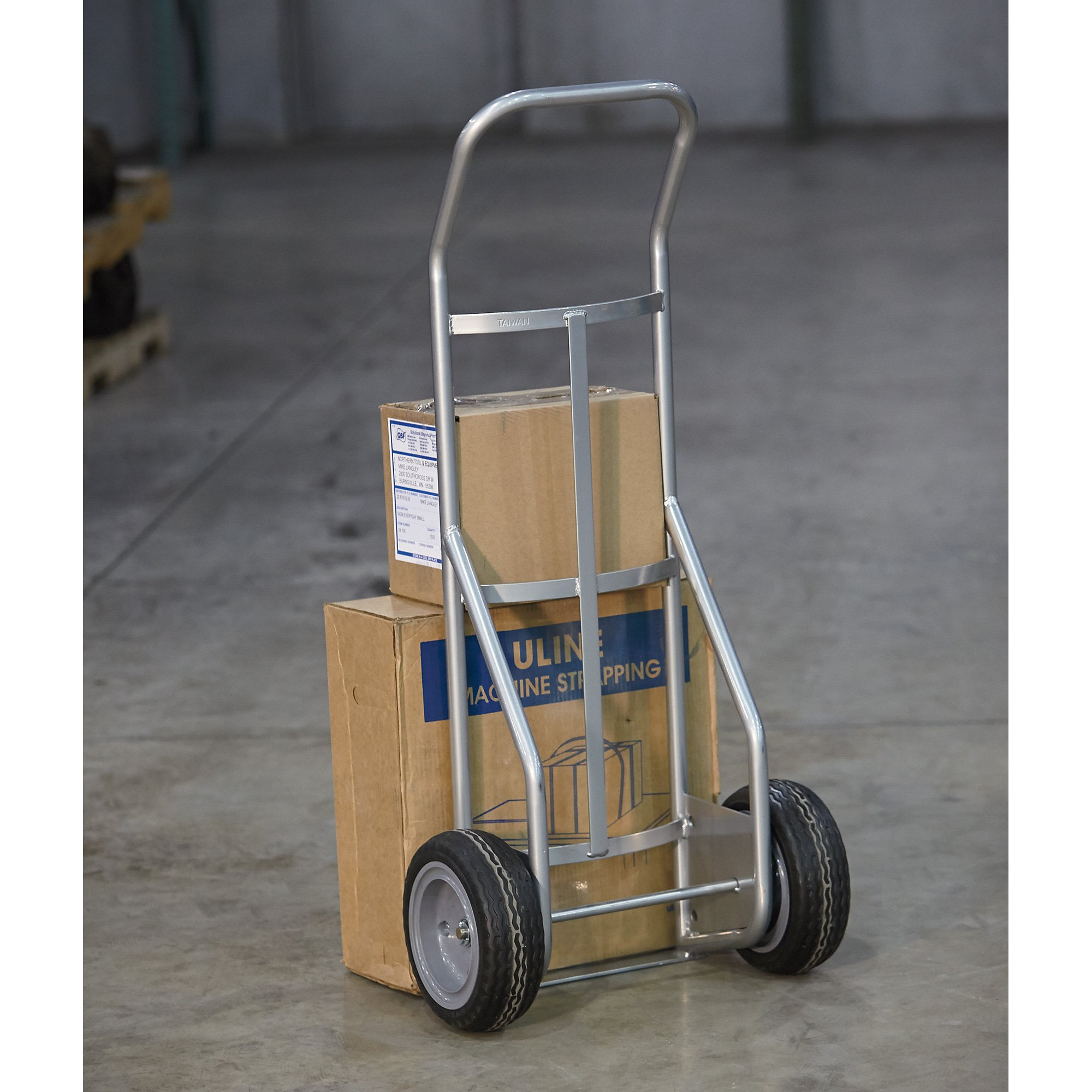 Roughneck Hand Truck with Flat-Free Tires - 800-Lb. Capacity, Steel