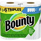 Bounty Paper Towels, White, 2 Triple Rolls = 6 Regular Rolls