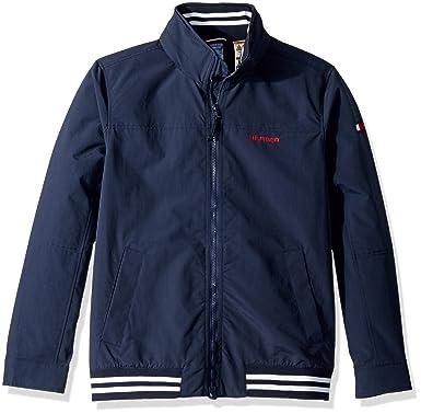 7416142ed Tommy Hilfiger Men's Adaptive Regatta Jacket with Magnetic Zipper, Navy  Blazer Small