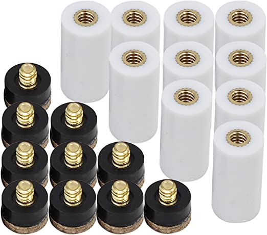 Pool Cue Stick Screw In Cue Tips Set of 10 13mm