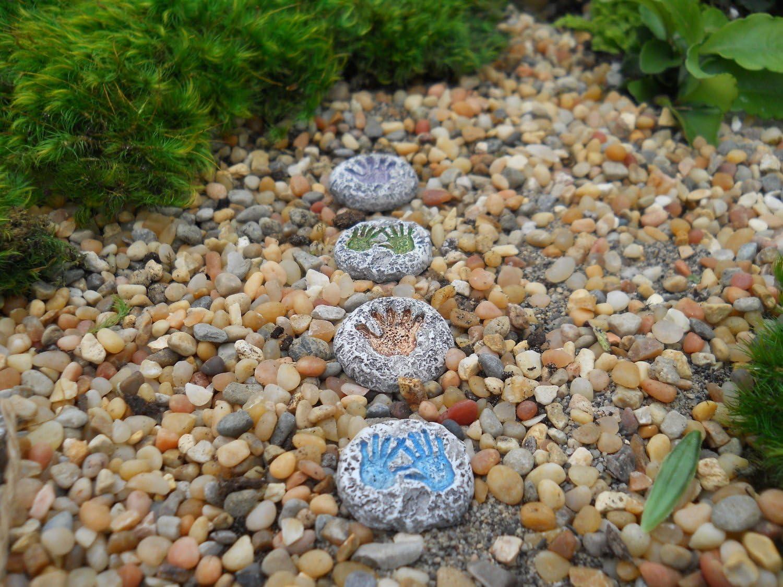 Wholesale Fairy Gardens Palm Print Miniature Fairy Garden Stepping Stones #FPALMS