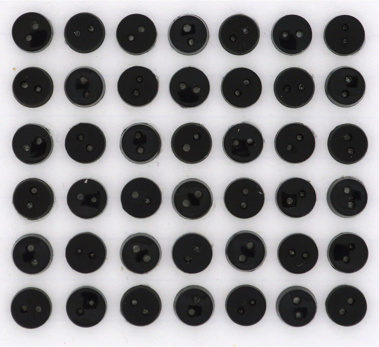 /Novelty Craft Buttons /& Embellishments by Dress It Up by Dress It Up Tiny Black 6/mm/