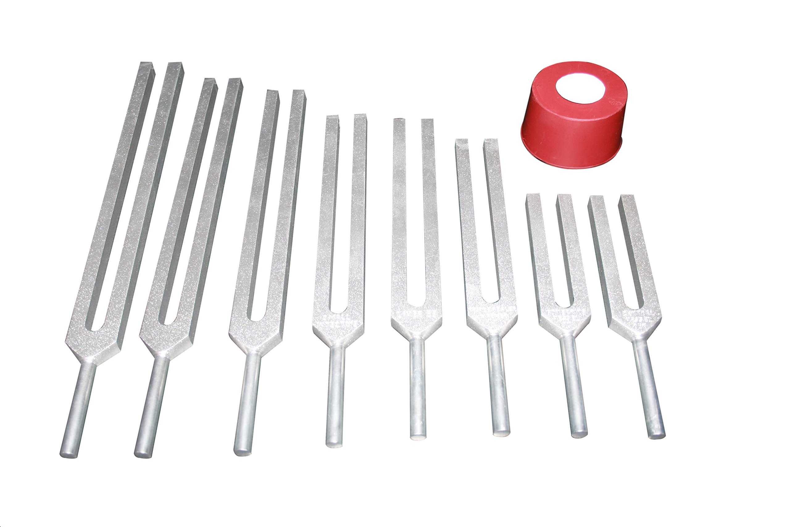 Radical Harmonic Solar Spectrum Set of 8 Healing Tuning forks with activator and pouch