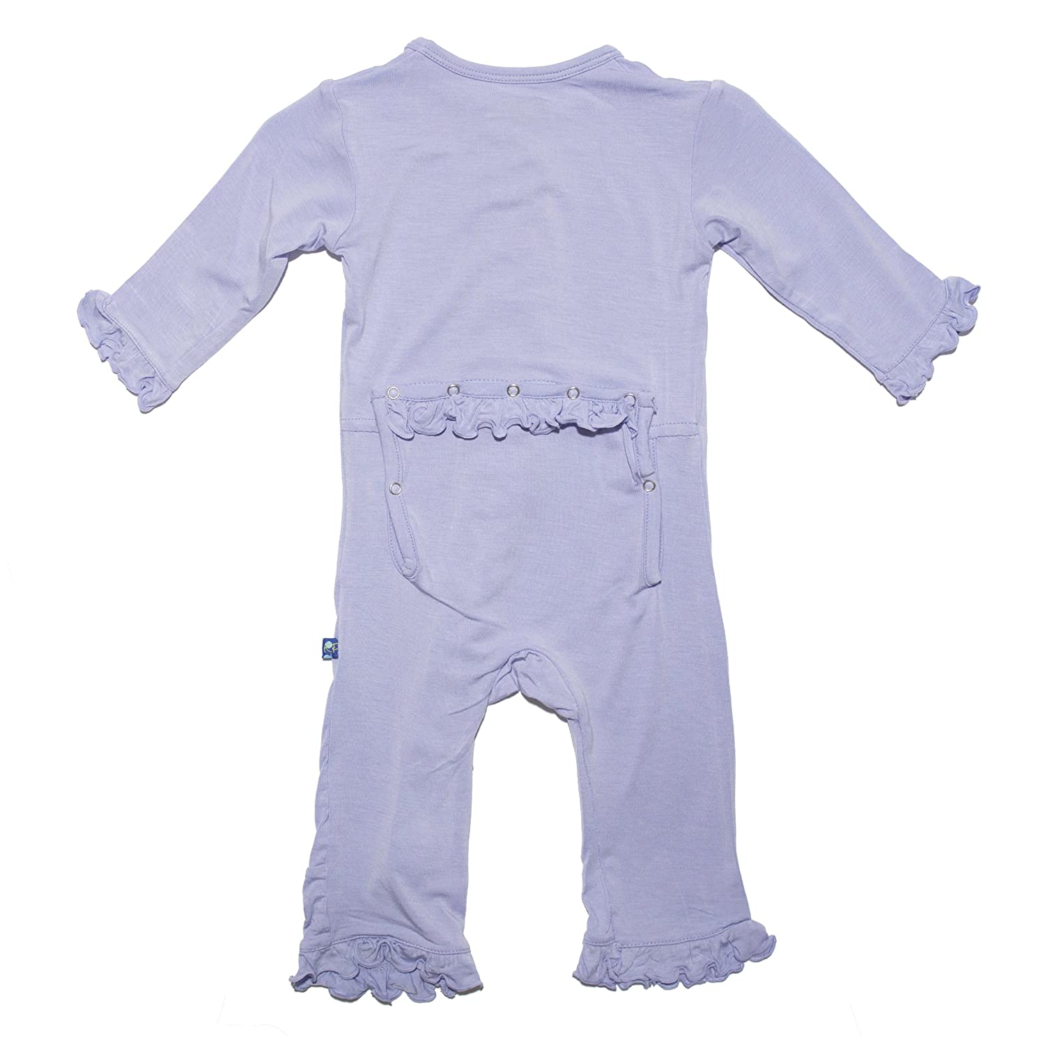 KicKee Pants Toddler-Girls Ruffle Onepiece Coverall Pajamas Lilac 4T