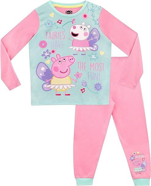 Peppa Pig Pijamas de Manga Larga para niñas Hadas: Amazon.es: Ropa ...