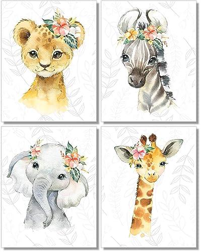 Safari Animal Nursery Print Baby Leopard Print Safari Nursery Decor Baby Shower Safari Animal Wall Art Nursery Wall Art Baby Animal