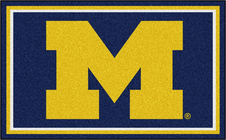 University of Michigan Wolverines Logo Area Rug