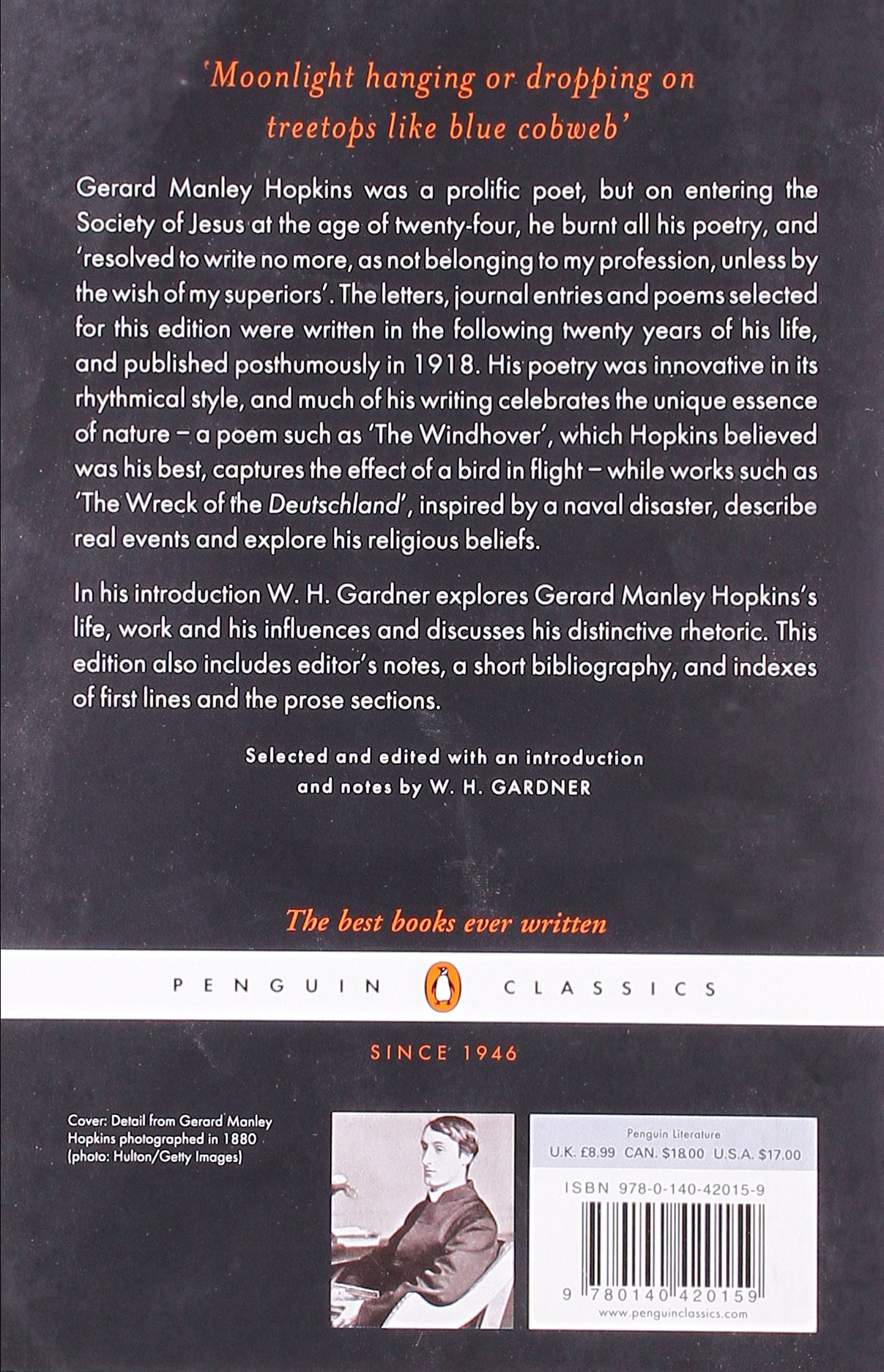 Poems and Prose (Penguin Classics): Gerard Manley Hopkins, W. H. Gardner: 9780140420159: Amazon.com: Books
