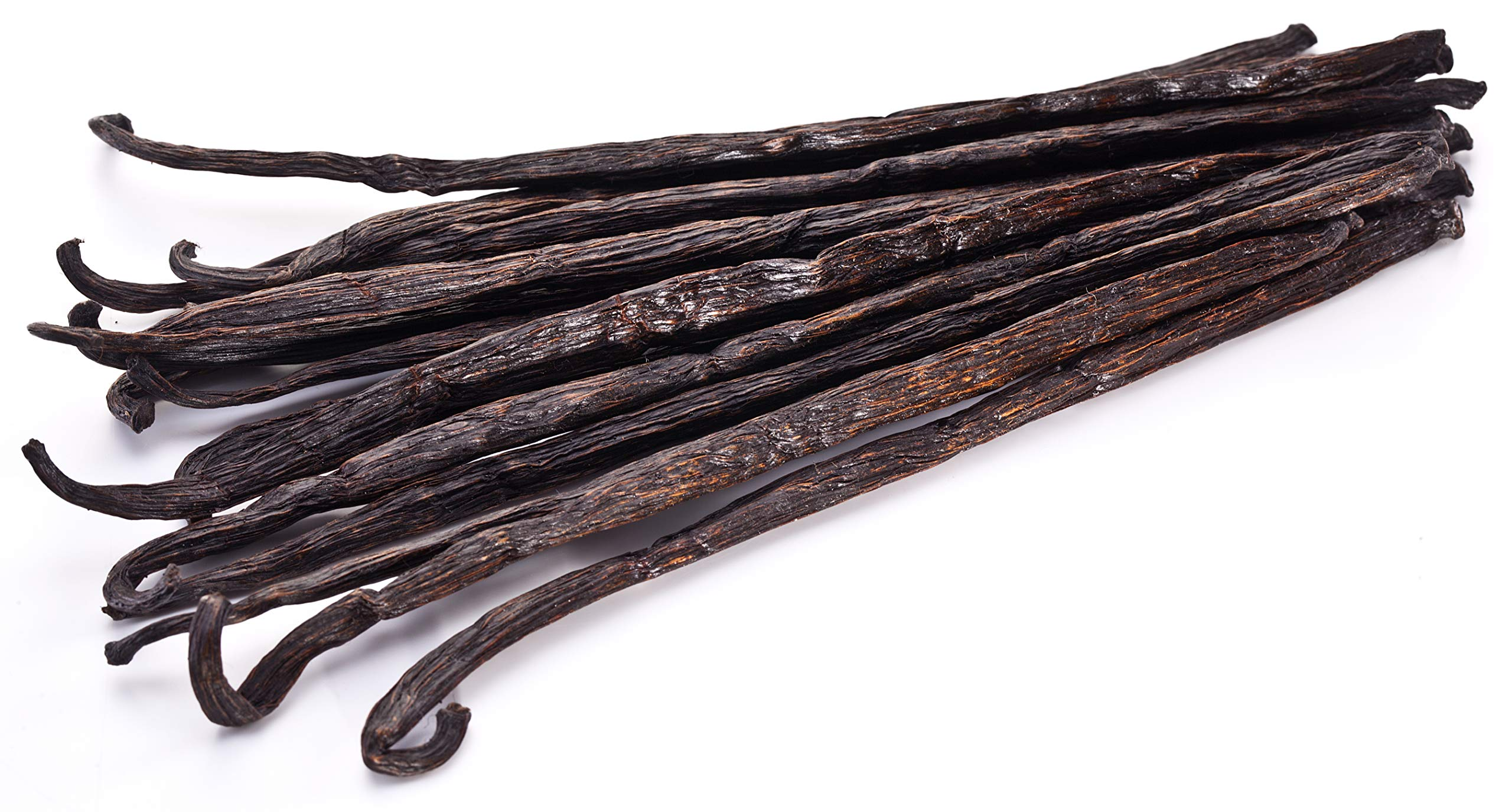 25 Vanilla Beans - Whole Extract Grade B Pods for Baking, Homemade Extract, Brewing, Coffee, Cooking - (Tahitian) by Vanilla Bean Kings