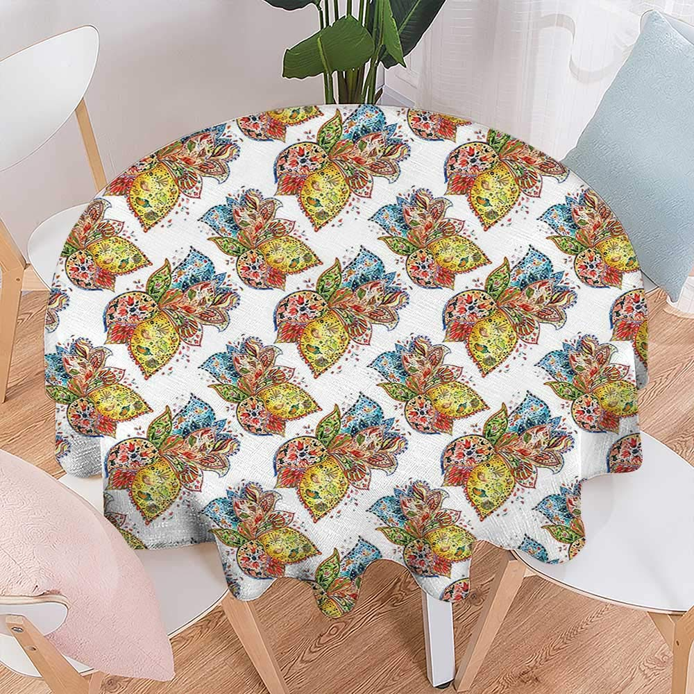 Excellent Amazon Com Round Table Cloth Foot Table In Washable Home Remodeling Inspirations Genioncuboardxyz