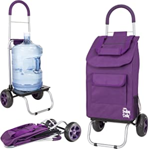 dbest products Trolley Dolly,Purple Shopping Grocery Foldable Cart
