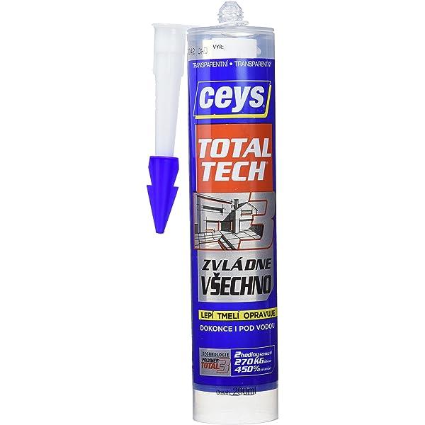 CEYS CE507226 TOTAL TECH TRANSPARENTE CART. 290ML, 0: Amazon.es: Bricolaje y herramientas