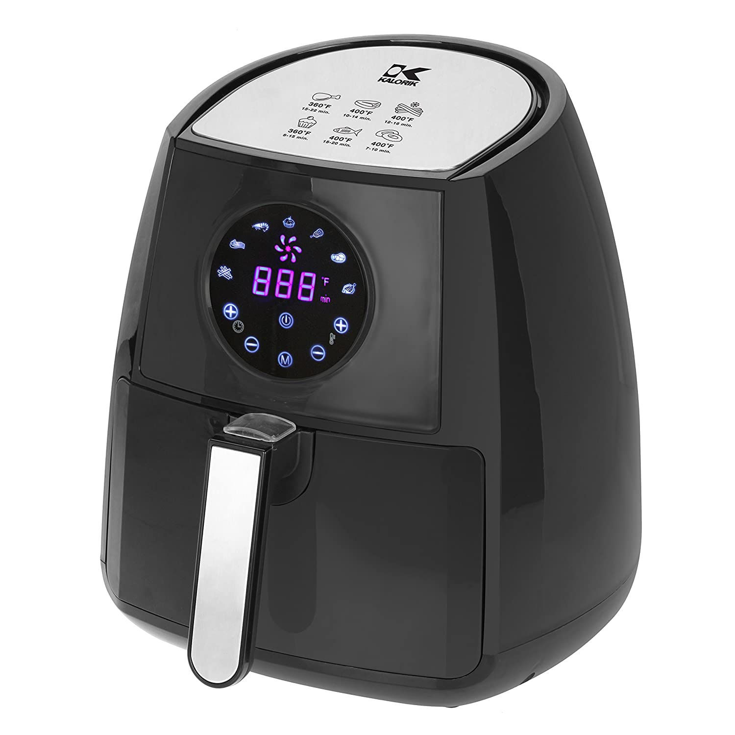 Kalorik FT 42174 BK w/Dual Layer Rack Digital Airfryer, Large, Black