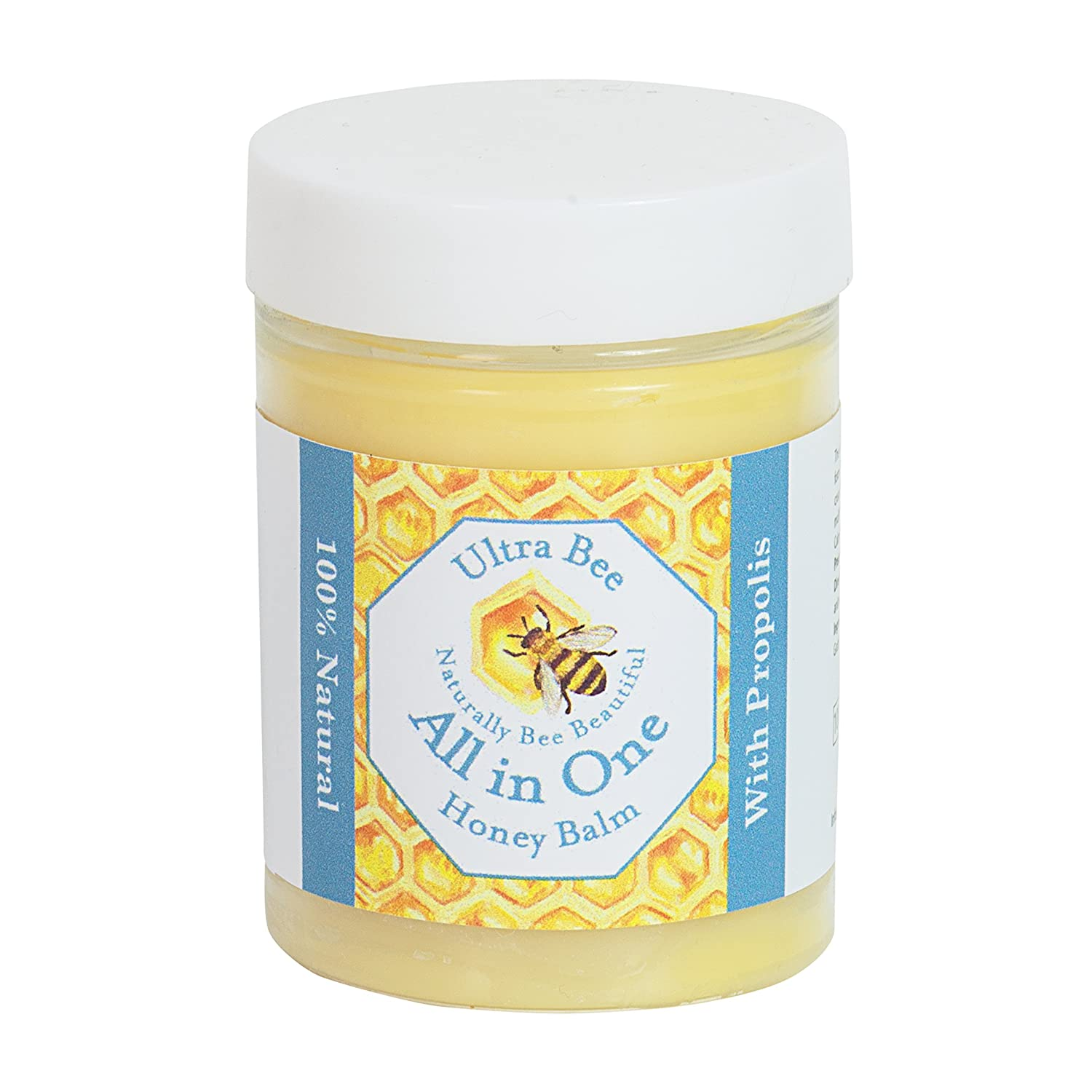 100% Natural Honey Balm, Natural Moisturiser and All Round Lubricant for Sensitive Face, Body, Lips,Tattoo's 100ml Tattoo's 100ml Ultra Bee Health