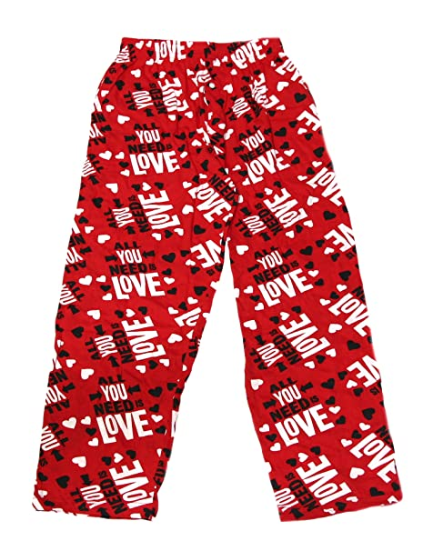 Fun Boxers Men S Valentines Day Loungewear Sleep Pants Red Small