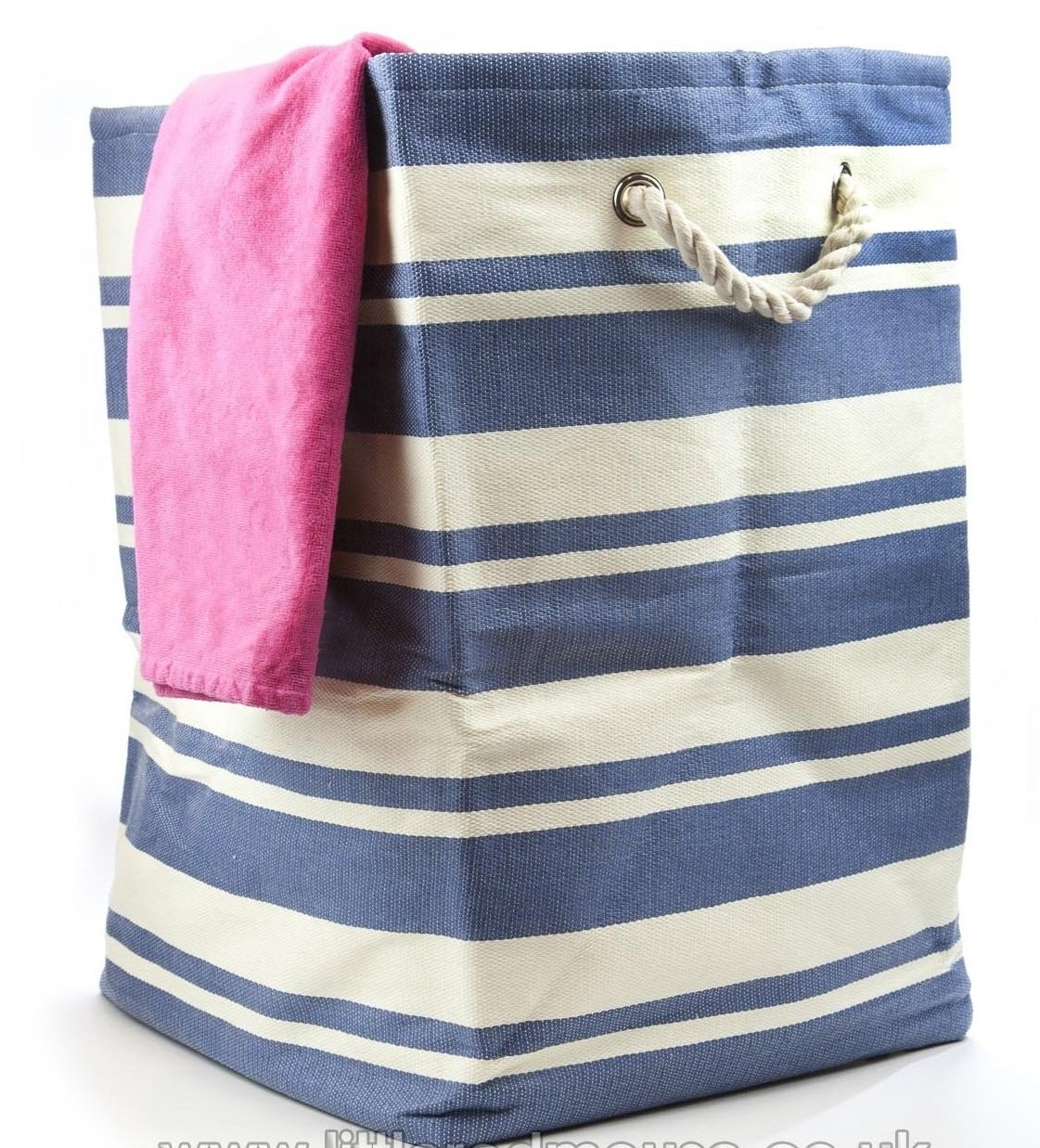 Large Quality New England Tall Woven Laundry/Storage Bag Blue tobs