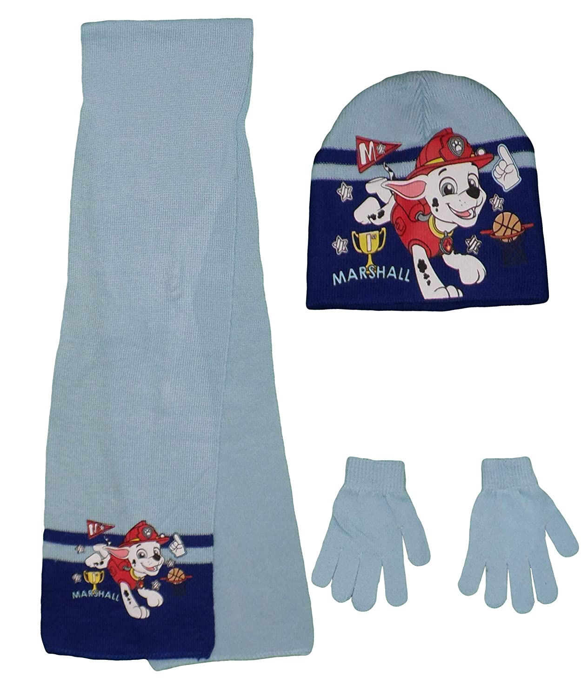 Nickelodeon Paw Patrol Kids Hat Scarf and Gloves Set