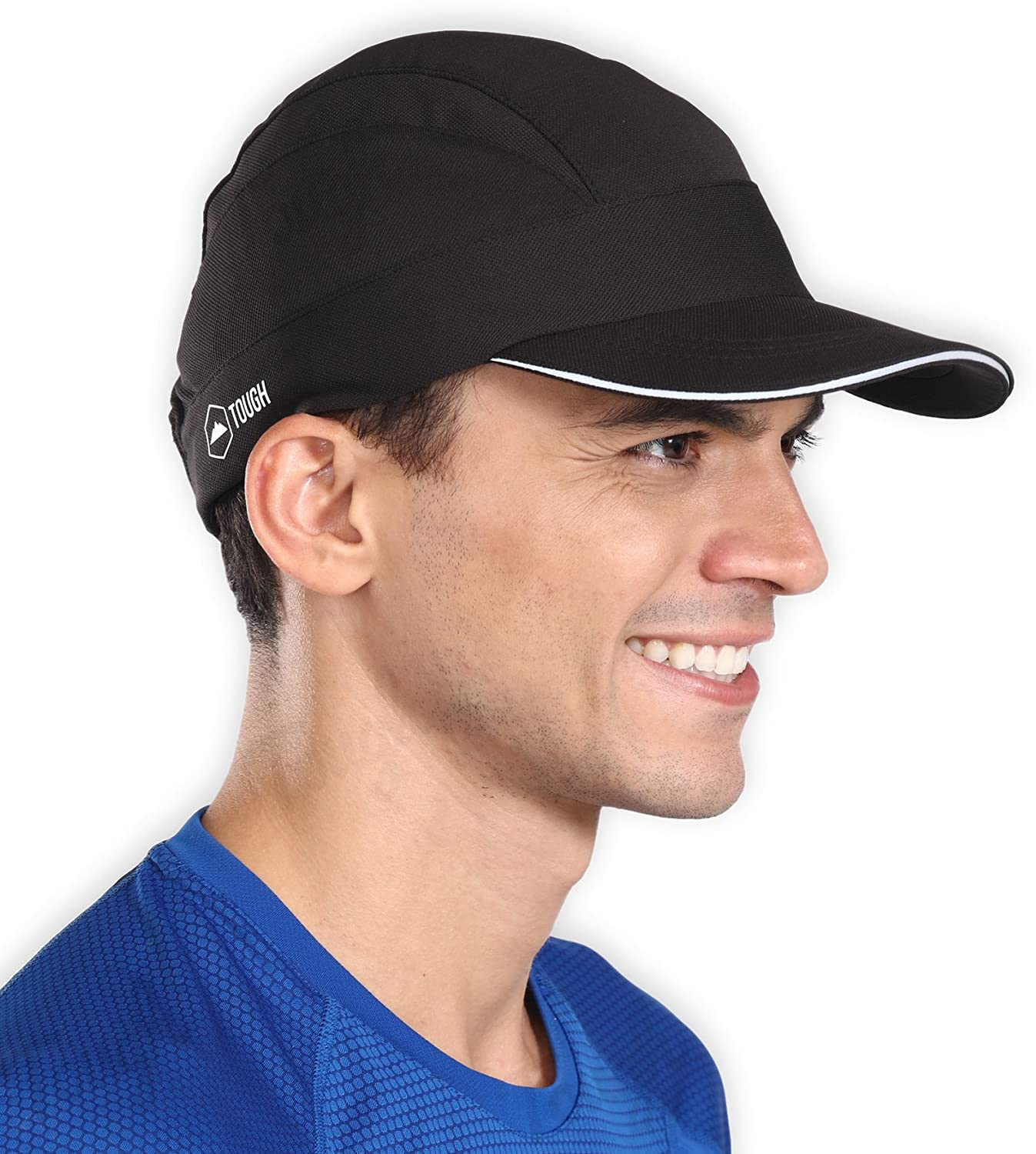 18a038842 Sweat-Wicking Running Cap - UV Protection Sports Cap with Reflective Brim -  Lightweight, Cooling & Packable Sun Hat - Ideal for Baseball, Cycling, ...
