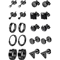 LOYALLOOK 10Pairs Stainless Steel Earrings For Men Tiny Ball Stud Earrings Cartilage Earrings Endless Earrings For Men…