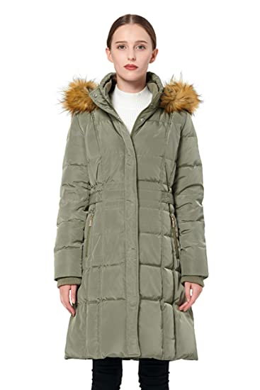 c61d2b0a7 Orolay Women's Puffer Down Coat Winter Jacket with Faux Fur Trim Hood  YRF8020Q