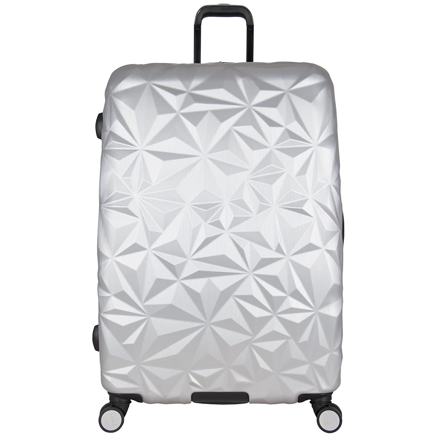 Aimee Kestenberg Women's Geo Chic 28 Hardside Expandable 8-Wheel Spinner Checked Luggage, Rose Gold 48702RGH