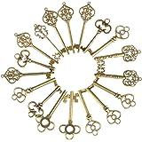 Naler 36 Ciondoli Steampunk in Bronzo Misto Chiavi con Scheletro, Fascino per la creazione di Gioielli Fai-da-Te, Accessori per Decorazioni Artigianali, 6 Stili