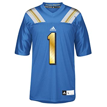 adidas UCLA Bruins NCAA # 1 Réplica Football Jersey Camiseta – Blue, XX-Large