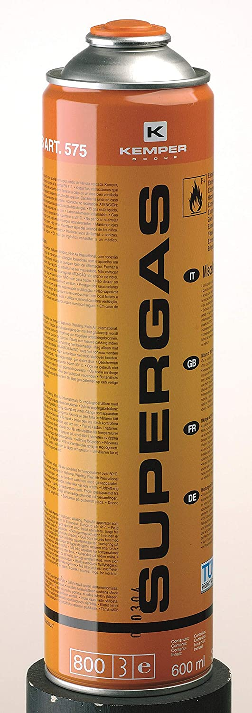 com-gas 575 575-Cartucho con válvula desechable 600 ml, 0 W ...