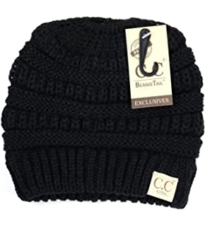 f2e0dfb4612f9 Crane Clothing Co. Women s Solid Classic CC Beanie Tail One Size ...