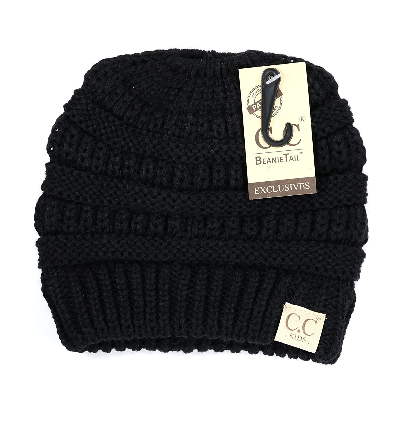 Women s Kids Solid Classic CC Beanie Tail One Size Black at Amazon Women s  Clothing store  6438010ee9b