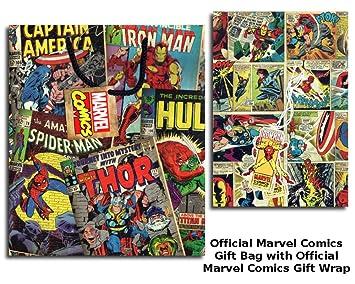 Marvel Comic bolsas de regalo y etiquetas para 2 hojas para ...