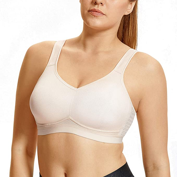 Syrokan Women S High Impact Support Wirefree Plus Size Sports Bra