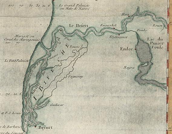 Amazon Com West Africa Coastline Portendic Senegal C 1746 Bellin