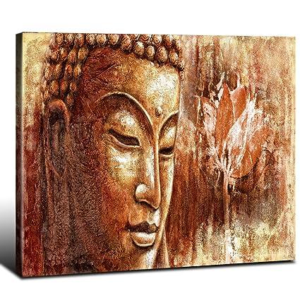 Amazon.com: DAXIPRI Buddha Wall Art Large Modern Pure Hand Painted ...