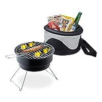 Grill Relaxdays kleiner Schwarz BBQ Camping Balkon Picknick ✔ rund ✔ tragbar ✔ Grillen mit Holzkohle