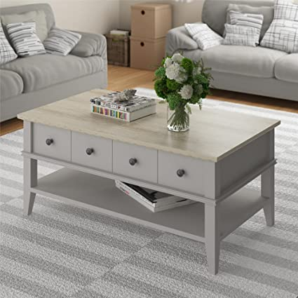 Gray Coffee Table With Storage 4