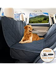 Dog seat covers for cars by YoGi Prime - LUXURY Dog Car Hammock Style Waterproof Car Seat Covers for dogs, Pet Seat protectors for Trucks SUVs - XL pet car seat covers (Luxury PADDED)